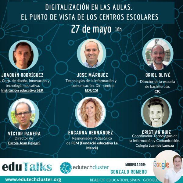 Edutalk: La digitalización en las aulas desde el punto de vista de los centros escolares