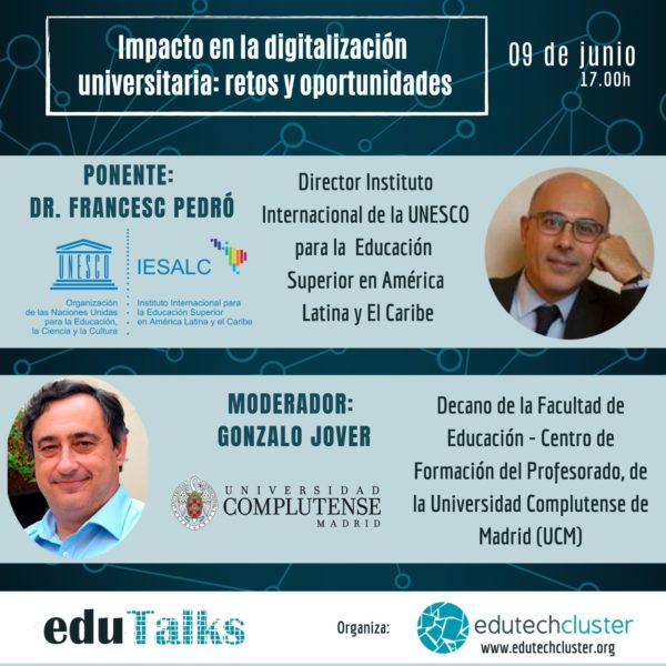 EduTalk: The impact of digitalisation on universities: challenges and opportunities.