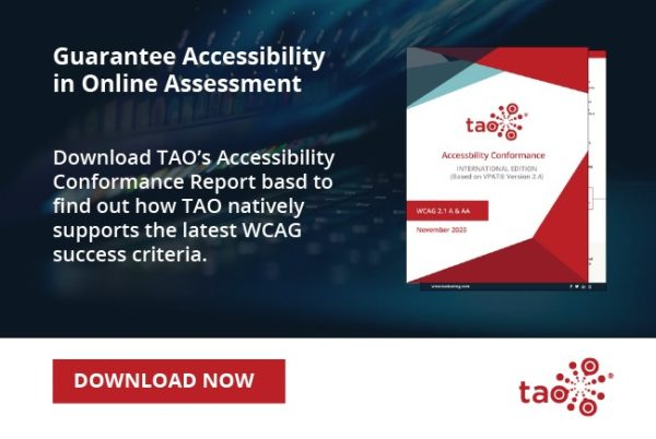 TAO publishes the Accessibility Guide for digital evaluation